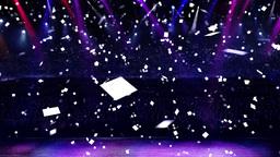 concert confetti Stock Video Footage