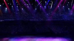 concert purple spotlight Stock Video Footage