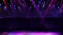 concert spotlight color mix 2 Stock Video Footage