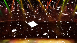 concert yellow light confetti Animation