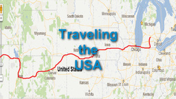 """U.S. Map Travel Animation with """"Traveling the USA"""" Title Stock Video Footage"""