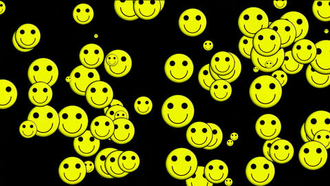 Emoticon Animation: yellow smile... Stock Video Footage