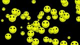 Emoticon Animation: Yellow Smile Face.illusion,particle,children,dream,vision,idea,creativity,vj,lau stock footage