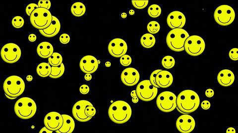 Emoticon Animation: yellow smile face.illusion,particle,children,dream,vision,idea,creativity,vj,lau Animation