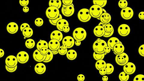 Emoticon Animation: yellow smile... Stock Video Footage