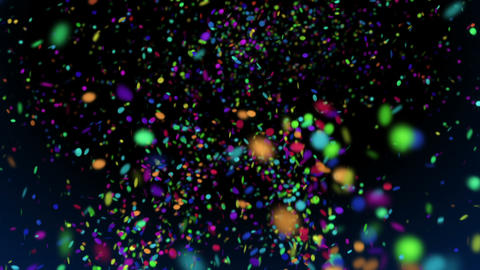 Confetti - video background loop Stock Video Footage