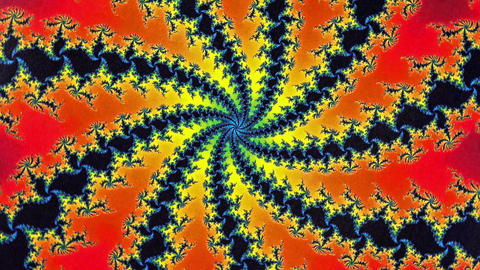 ‎Mandelbrot Fractal Spin Circular Animation Background stock footage