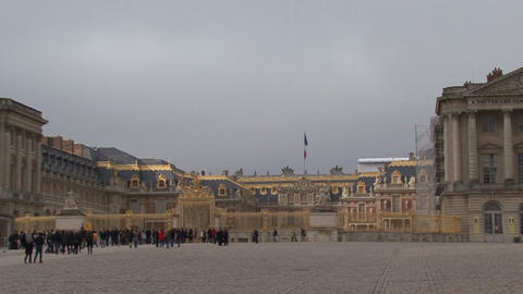 Palace of Verarchitecture, art, awe, basailles. Sculptures of the main entrance Footage
