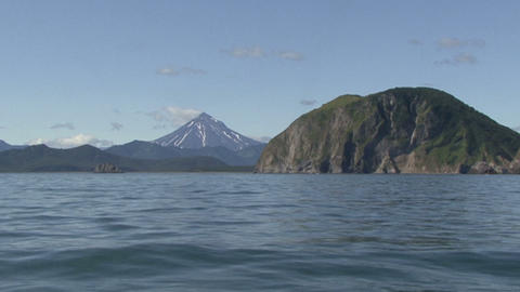 Kamchatka. Vilyuchinskaya Hoes. View From The Pacific Ocean stock footage
