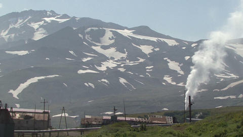 Kamchatka. The Factory In The Valley Of Mutnovsky Volcano stock footage