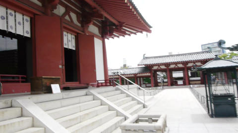 pov temple shitennoji osaka japan 16 Footage