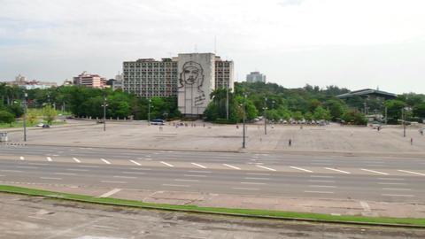 Plaza De La Revolucion City View Cuban Square Havana Cuba stock footage