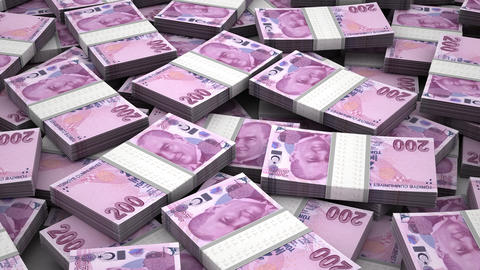 Stack of Turkish Lira Animation