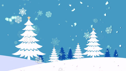 Christmas Landscape 2 Animation