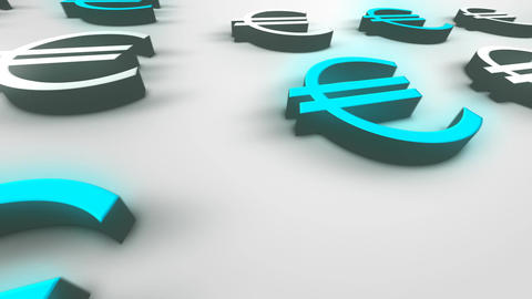 Europe Currency Euro– Loopable Background Animation