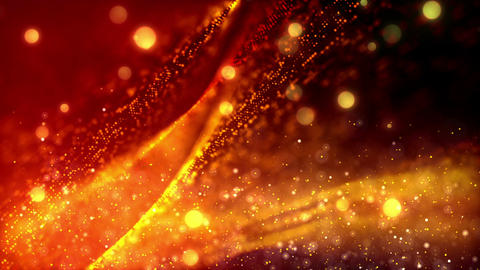 Cinematic Gold Dusts 1– Loopable Background Animation