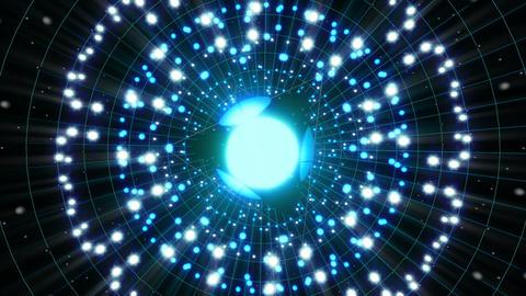Blue Energy Sphere VJ Loop stock footage