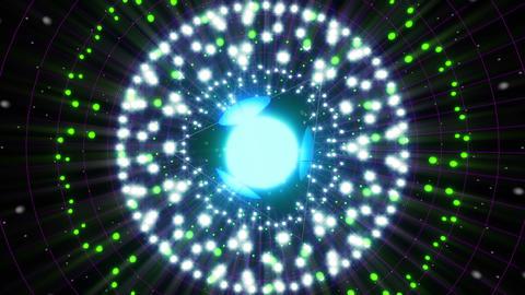 Blue Energy Sphere VJ Loop 2 Animation