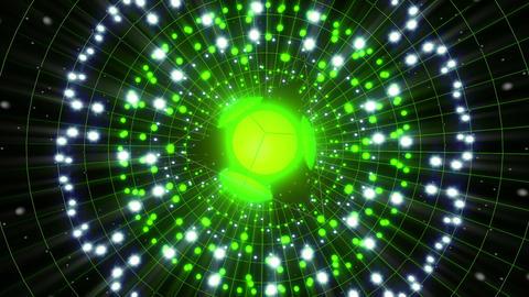 Green Energy Sphere VJ Loop Animation