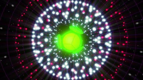 Green Energy Sphere VJ Loop 2 Animation