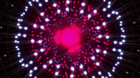 Pink Energy Sphere VJ Loop stock footage