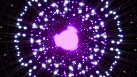 Violet Energy Sphere VJ Loop Animation