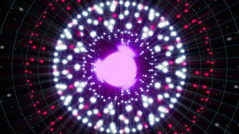 Violet Energy Sphere VJ Loop 2 Animation