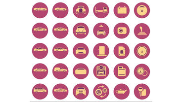 Car Icon Animation Pack stock footage