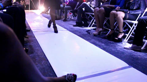 Models legs on the runway - catwalk Footage