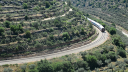 Nature of the Judean hills and a train passing by Footage