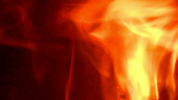 Fire Burning In A Oven/ Fireplace, Loopable Without Sound stock footage