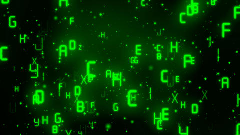 Matrix Digital Alphabets 1 Animation