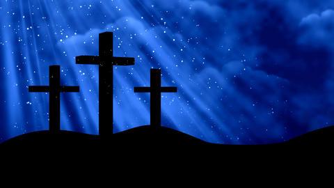 Worship Prayers 3 Crosses 2 Animation