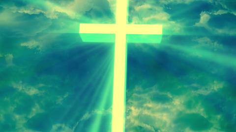 Worship Religious God Rays 1 stock footage