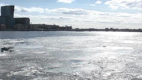 Ice drifts Footage