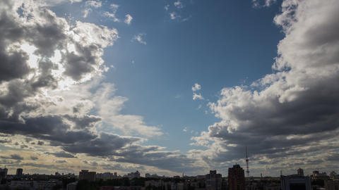 City Clouds In Motion 1 4K stock footage