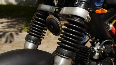 Suspension check in motorbike Footage