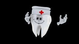 Animated Tooth Character stock footage