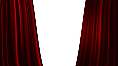 Red Curtains Open With Spotlights Plus Alpha Luma Matte stock footage
