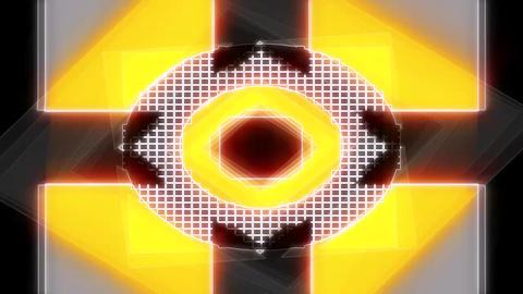 Orange geometry loop Animation