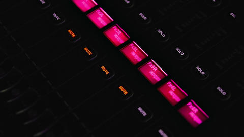 1080p Digital Mixing Console Footage