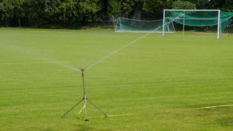 sprinklers on the football pitch Footage