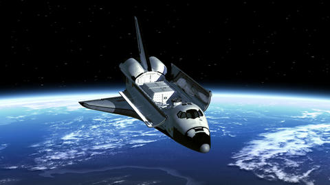 Space Shuttle Payload Bay Doors Open stock footage