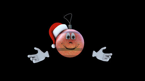 Animated Christmas Tree Toy Character Stock Video Footage
