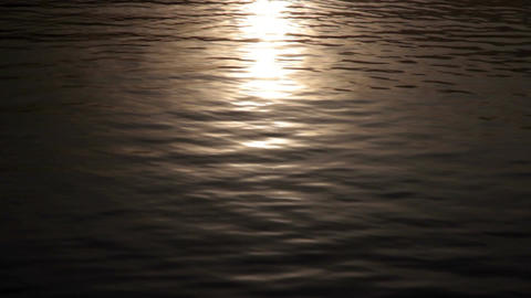 Sunlight on water surface Footage