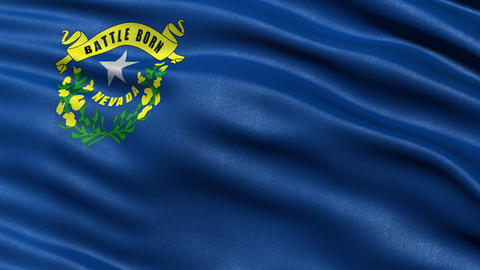 4K Nevada state flag seamless loop Ultra-HD Animation