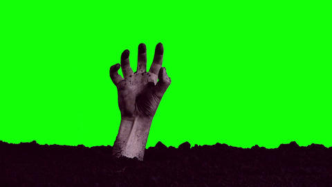 Zombie Hand Emerging From The Grave stock footage