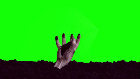 Zombie Hand Emerging From The Grave 3 stock footage