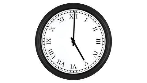 Clock with Roman numerals timelapse animation loop 4K Animation