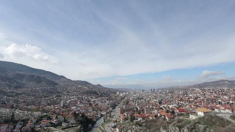 Sarajevo panorama Footage